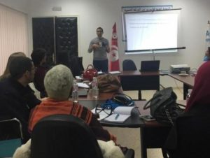 Sabri Jerbi, a 2017 Tunisian fellow, shared an idea for a sports event for children with disabilities and elicited some valuable ideas on funding this new program.