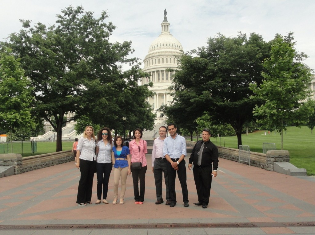 Some of Our Fellows on the Lawn of the Capitol Building