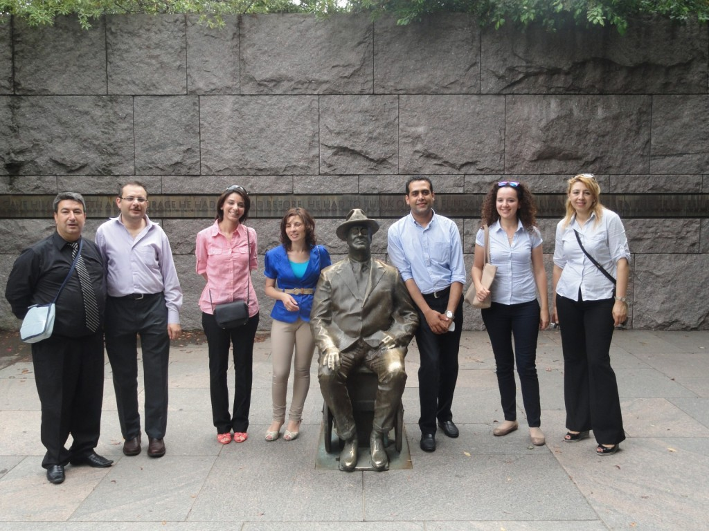 Some of Our Fellows at the FDR Memorial